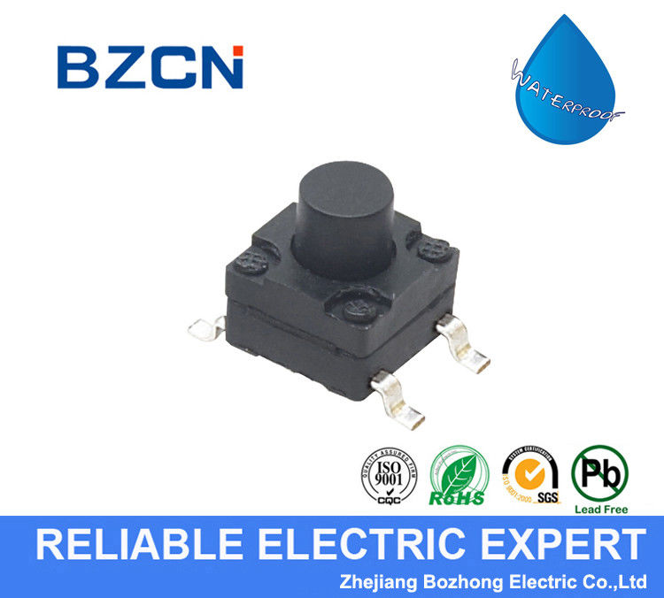 Vertical Press Waterproof Tactile Switch Stainless Steel Terminal Material