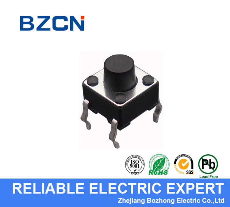Through Hole Terminal Silent Tactile Switch / SMD Momentary Switch DIP Terminal