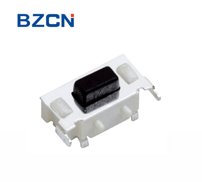 Mini White House Right Angle Tactile Switch Surface Mount With Black Button